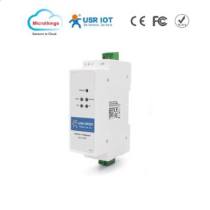 DIN rail RS232 Serial to Ethernet converter