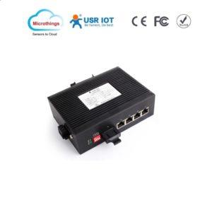 Industrial Ethernet Switch 2 Ethernet Ports and 1 Fiber Port